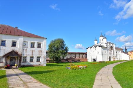 reserve: Kirillo-Belozersky monastery by day near City Kirillov, Vologda region, Russia.