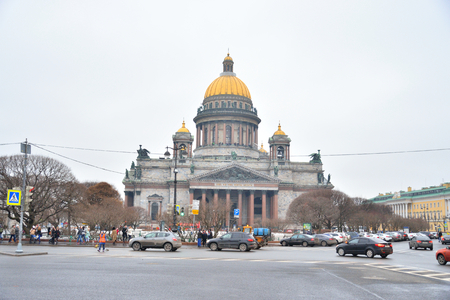 isaac: ST.PETERSBURG, RUSSIA - 7 MARCH 2016: St. Isaac Cathedral - the largest Orthodox temple of St. Petersburg. Located on St. Isaac Square.