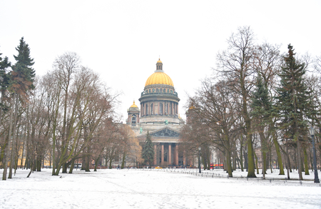 isaac: St. Isaac Cathedral - the largest Orthodox temple of St. Petersburg, Russia.