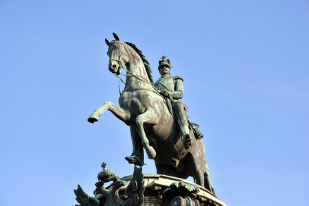 nikolay: The monument to Nicholas I in St.Petersburg, Russia. Stock Photo
