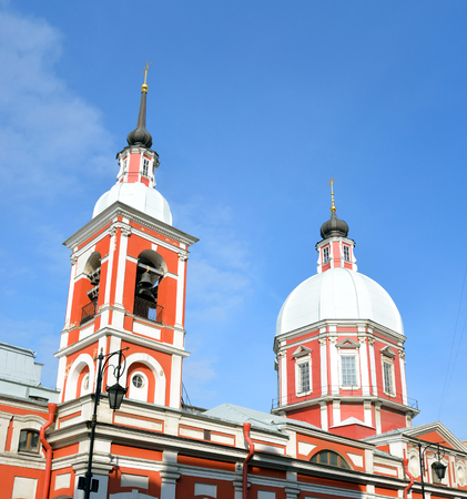 panteleimon: Holy Great Martyr and Healer Panteleimon church in St.Petersburg, Russia. Stock Photo
