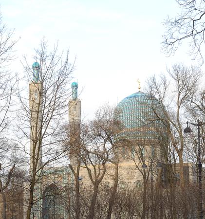 mohammedan: Saint Petersburg Mosque on Petrograd Side, Russia. Stock Photo