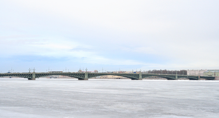 neva: Trinity Bridge and Neva River in St.Petersburg, Russia.