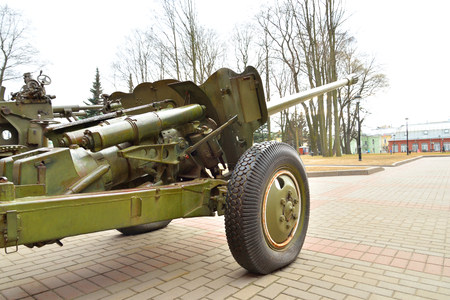 Soviet anti-tank gun of the Second World War in St.Petersburg, Russia.
