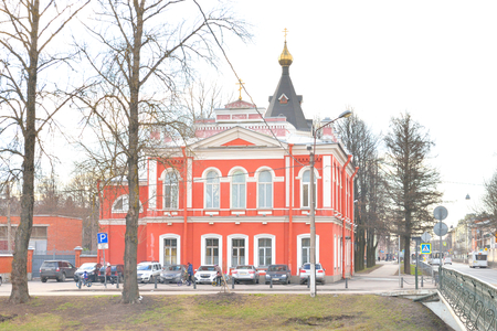 eclecticism: ST.PETERSBURG, RUSSIA - APRIL 16, 2016: Church of the Ascension in Kolpino town on the outskirts of St. Petersburg.
