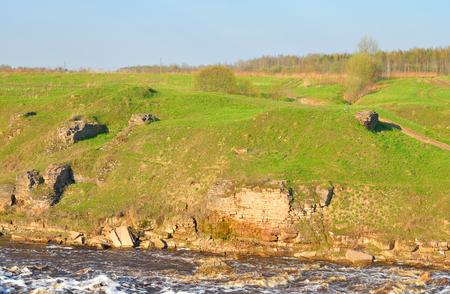 leningrad: View of the river Tosna in Leningrad Region, Russia.