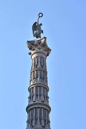 The column of Glory was erected in St. Petersburg in front of the Trinity Cathedral in honor of the exploits of the Russian troops who took part and won the Russo-Turkish War of 1877-1878.