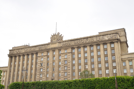 leningrad: ST.PETERSBURG, RUSSIA - 15 JUNE, 2016: House of Soviets - the building was built in 1936-41. Located on Moscow Square in St. Petersburg.