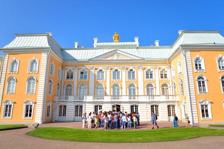 ST.PETERSBURG, RUSSIA - 27 JULY, 2016: Grand Peterhof Palace in Saint Petersburg. Built in 1714-1755 years in the Baroque style.