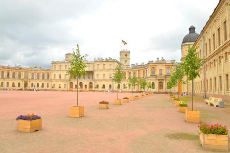 leningrad: Fragment of the Big Gatchina Palace in Gatchina, Russia.
