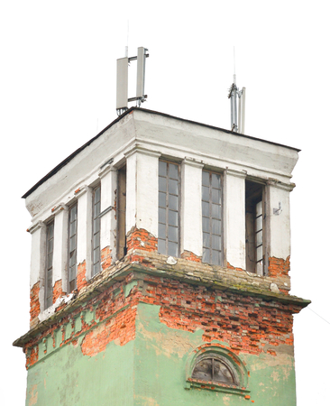 Old dilapidated fire tower in Gatchina, Russia.