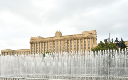 House of Soviets - the Neoclassicism building was built in 1936-41. Located on Moscow Square in St. Petersburg, Russia.