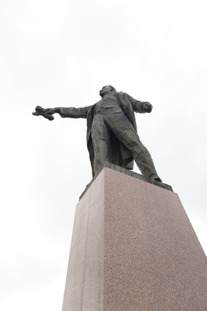 ST.PETERSBURG, RUSSIA - 6 AUGUST 2016: Monument to Lenin on Moscow Square. Vladimir Ilyich Ulyanov, the main pseudonym Lenin is a Russian revolutionary, a Soviet political and statesman.