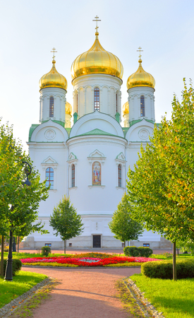 Cathedral of St. Catherine in Tsarskoye Selo at sunny day, suburb of St.Petersburg, Russia.