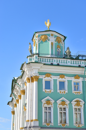 View of Winter Palace of Hermitage Museum. One of the largest and most significant art and historical museums in Russia and abroad. Editorial