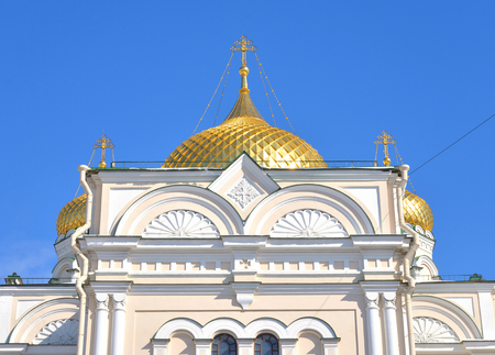 Voskresensky Cathedral of Orthodox Voskresensky Novodevichy Convent in St.Petersburg, Russia. Stock Photo