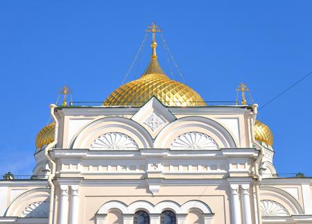Voskresensky Cathedral of Orthodox Voskresensky Novodevichy Convent in St.Petersburg, Russia. Banco de Imagens