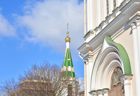 Orthodox Voskresensky Novodevichy Convent in Saint Petersburg, Russia.