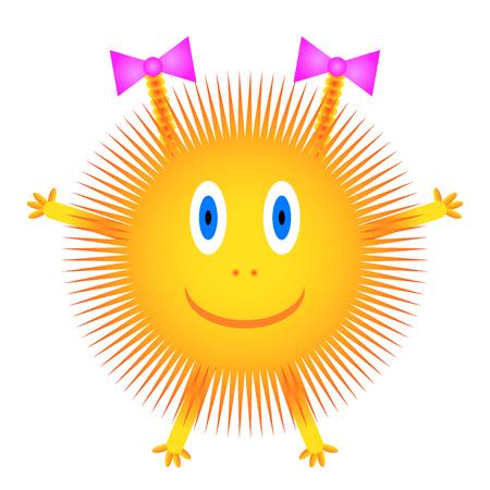 Sun icon on white background. Vector illustration.