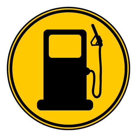 Gas station sign on white background. Vector illustration.
