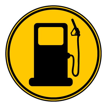 Gas station sign on white background. Vector illustration.