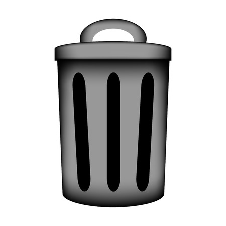 Garbage icon sign on white background. Vector illustration.