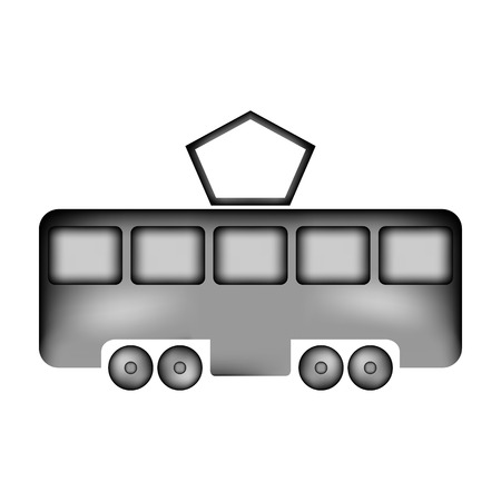 Tram sign icon on white background. Vector illustration.