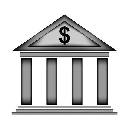 roman column: Bank sign icon on white background. Vector illustration.