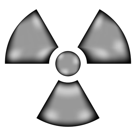 irradiation: Radiation sign sign icon on white background. Vector illustration.