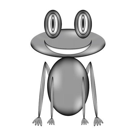 animals amphibious: Frog sign icon on white background. Vector illustration.