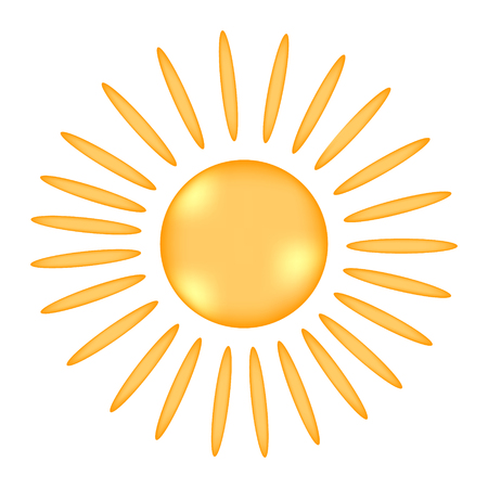 Sun sign icon on white background. Vector illustration.
