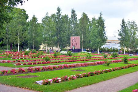 LAPPEENRANTA, FINLAND - AUGUST 18, 2017: Old military cemetery in Lappeenranta. Buried here Finnish soldiers who died in Second World War. Editorial