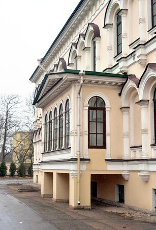 Building in Orthodox Voskresensky Novodevichy Convent in Saint Petersburg, Russia.