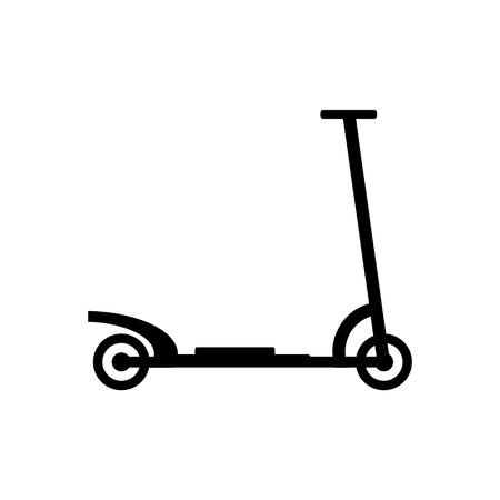 Kick scooter icon on white background. Illustration