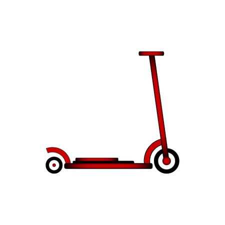 Kick scooter icon on white background. Illustration