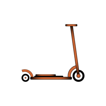 Kick scooter icon on white background. Vector illustration. Illustration