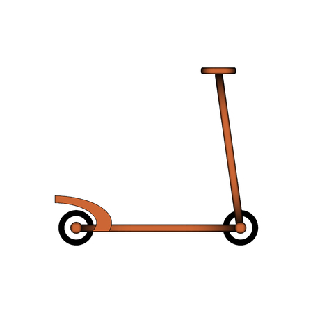 Kick scooter icon on white background. Vector illustration. Иллюстрация
