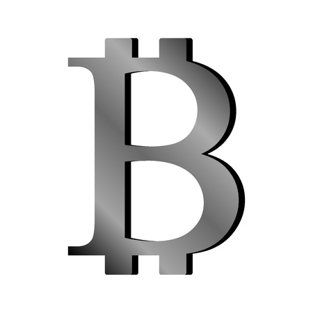 Bitcoin sign on white background. Vector illustration.