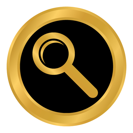 Search sign button on white backgroud. Vector illustration.