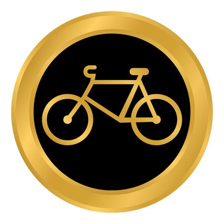 Bike button on white background. Vector illustration. Vettoriali