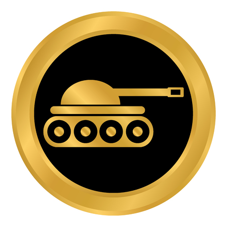 Panzer button on white background. Vector illustration. Иллюстрация