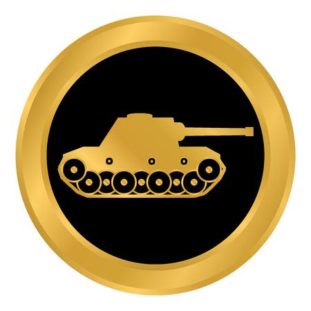 Circular image with tank design illustrations