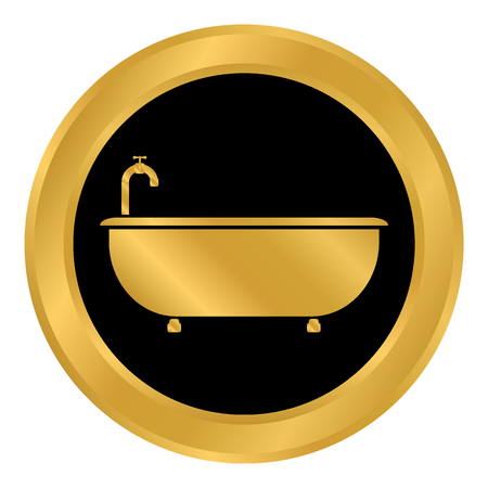 Bathtub icon Vector illustration. Ilustração