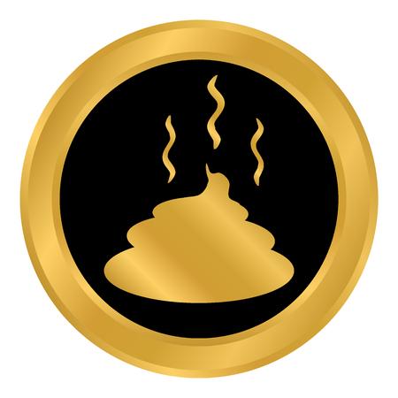 Shit button on white background. Vector illustration. Banco de Imagens - 98005029