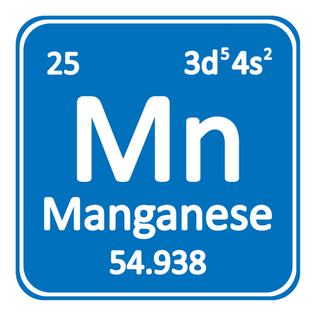 Periodic table element manganese icon on white background Vector illustration.