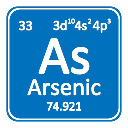 Periodic table element arsenic icon on white background. Vector illustration.