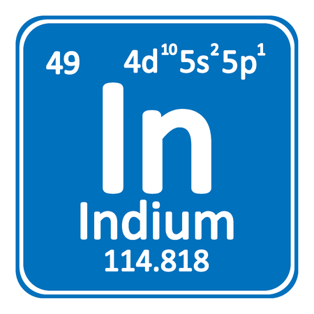 Periodic table element indium icon on white background. Vector illustration. Banco de Imagens - 98613793