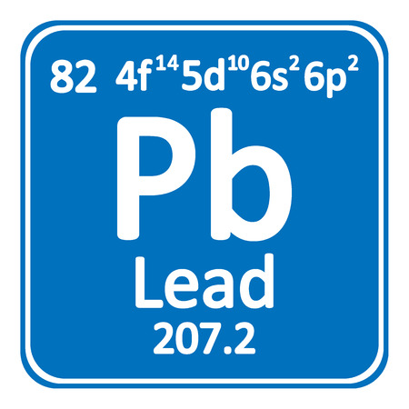 Periodic table element lead icon on white background. Vector illustration. Illustration