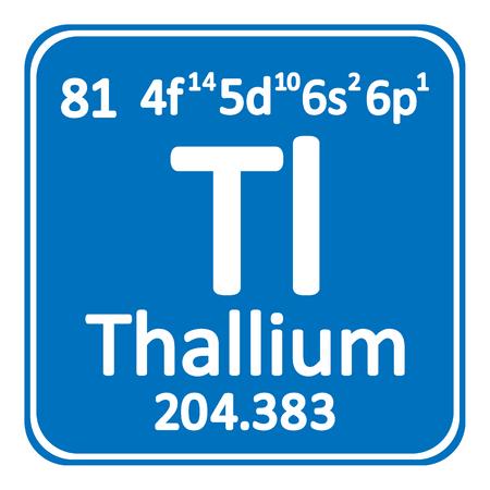 Periodic table element thallium icon on white background. Vector illustration. Illusztráció
