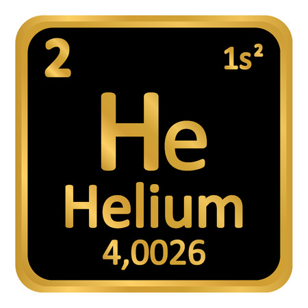 Periodic table element helium icon on white background. Vector illustration. Banco de Imagens - 98883900